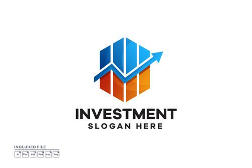 Business Investment Gradient Logo Design vector