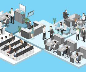 Business explanation cartoon illustration vector