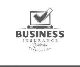 Business insurance card vector