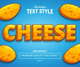 CHEESE vector text effect