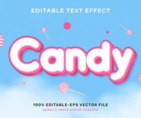 Candy editable text effect vector