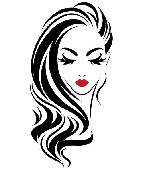 Charming girl avatar vector