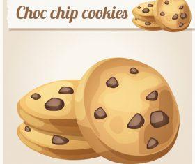 Choc chip cookies vector