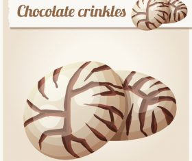 Chocolate crinkles vector