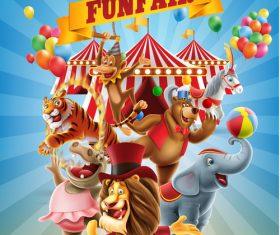 Circus funf air vector