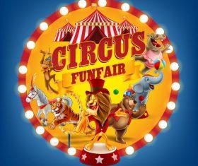 Circus show advertisement vector