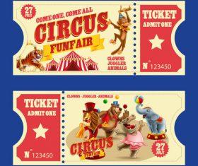 Circus tickets banner vector