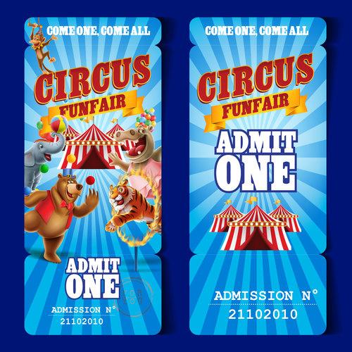 Circus tour advertising banner vector