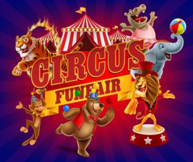 Circus welcomes you to advertise vector