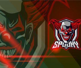 Clown esport logo template vector