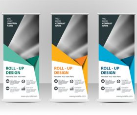 Colorful geometric cover vertical banners vector