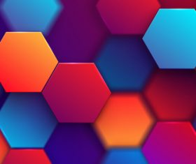 Colorful hexagonal graphic vector background