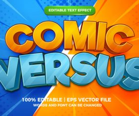 Comic versus cartoon style 3d template vector