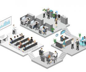 Company operation cartoon illustration vector