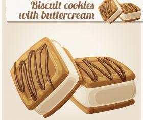 Cream biscuits vector