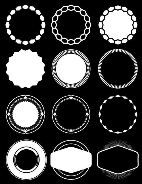 Creative circle element vector