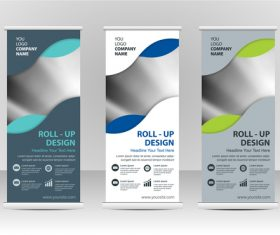 Creative roll up banner vector