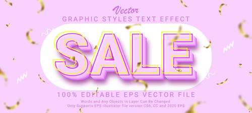Creative sale vector text effect