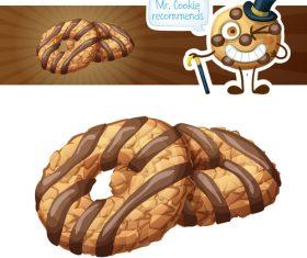 Crispy choc chip cookies vector