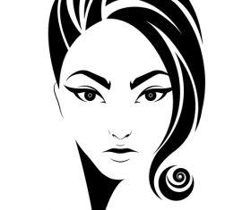 Curly hair female avatar vector