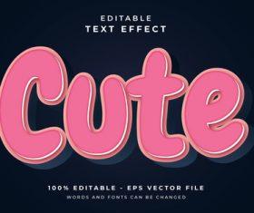 Cute text effect vector