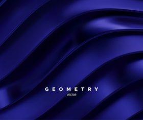Dark blue wave background vector