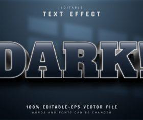 Dark editable eps text effect vector