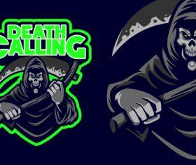Death calling esport logo vector