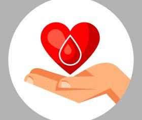 Design donate blood public service advertisement vector
