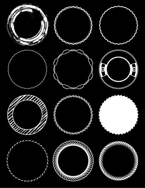 Different circle element vector