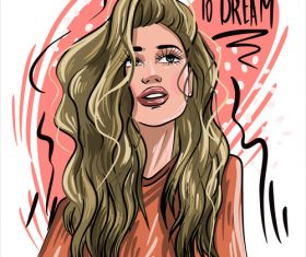 Dont forget to dream illustration vector