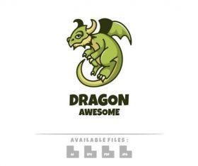 Dragon awesome logo mascot vector
