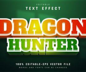 Dragon hunter editable text effect