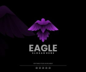 Eagle gradient logo vector