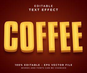 Editable text effect coffee vector