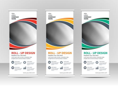 Editable vertical banners vector