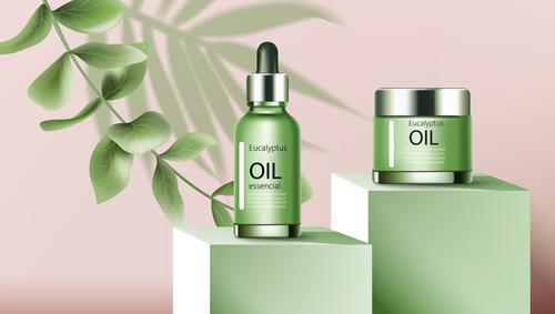 Eucalyptus oil cosmetic vector