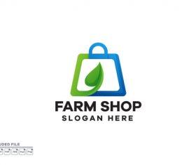 Farm Shop Gradient Logo design template vector