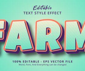 Farm editable eps text effect vector