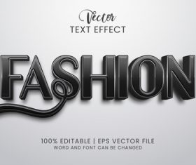 Fashion text effect vector