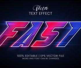 Fast editable text effect vector