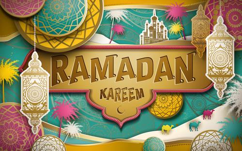 Festive ramadan festival card vector