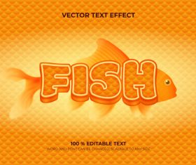 Fish vector text effect