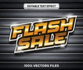 Flash sale text effect vector