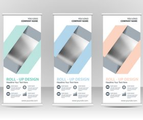 Folding cover vertical banners vector