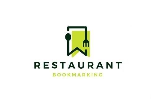 Food Bookmark Logo design template vector
