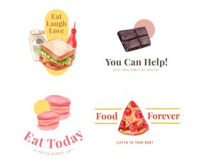 Food forever vector