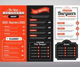 Food menu digital use illustrated vector