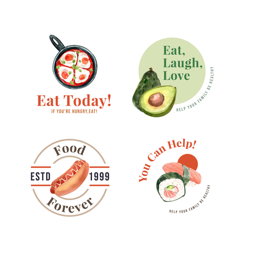 Food various background vector