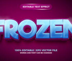 Frozen cartoon style 3d template vector